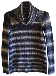The Limited Chunky Striped Woven Longsleeve Wool Sweater