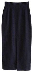 The Limited Vintage Wool Pencil Pinstripe Skirt Blue