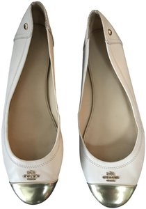 Coach 1941 Tan/Gold Toe Ballerina Chelsea Eu 39.5 Light Tan/Gold Flats