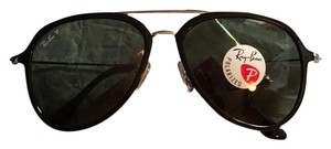 Ray-Ban Ray-Ban RB429857 Unisex Black Aviator Sunglasses