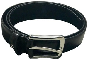Montblanc Montblanc Business Black leather belt size 40 with rectangular buckle