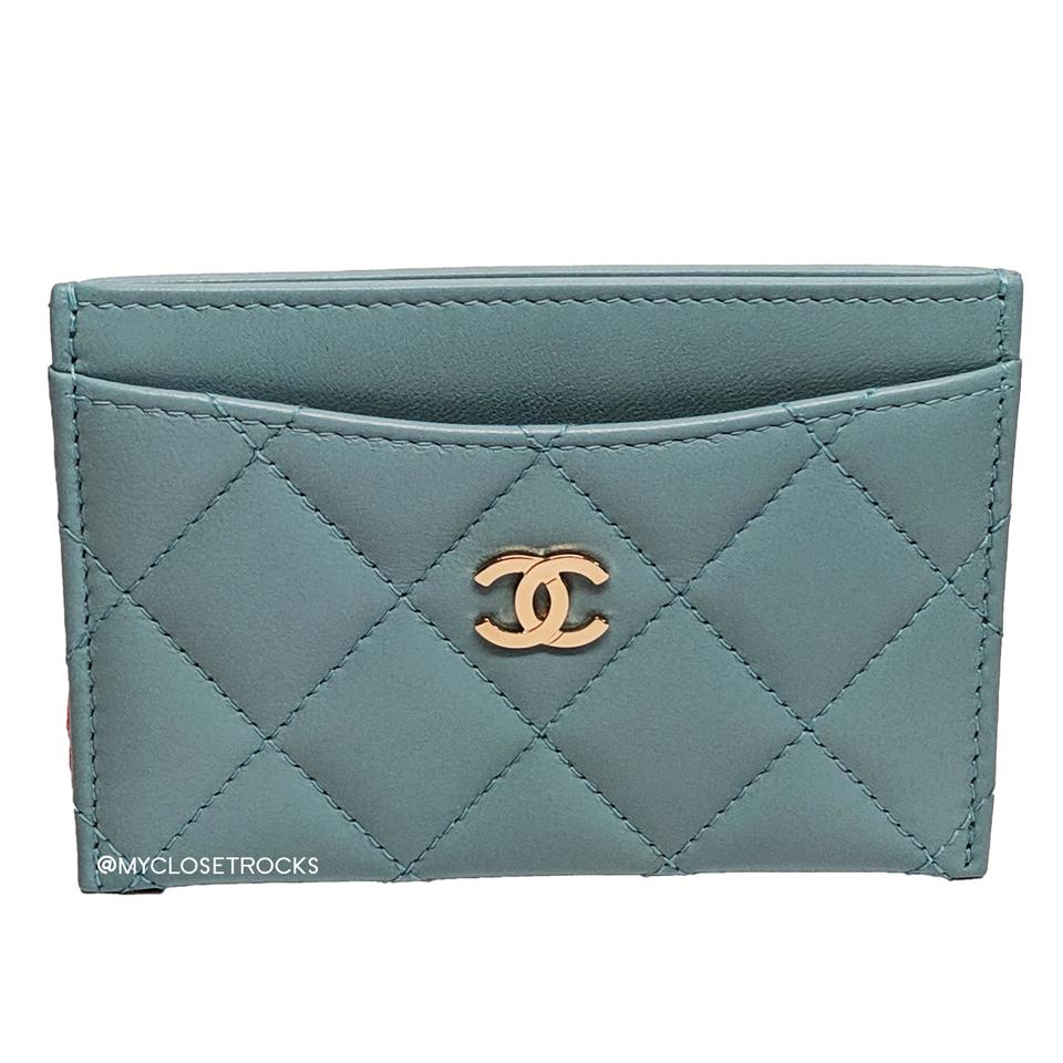684400bb5d5b Chanel Chanel Light Blue Card Quilted Lambskin Card Holder Image 0 ...