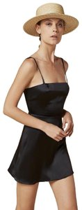 Reformation short dress Black Silk Mini Night Out Party A-line on Tradesy