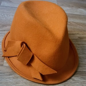 Anthropologie Orange Wool Hat
