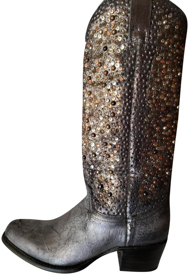 6494a242710e Frye Multi Athracite Deborah Studded Tall 3477860-ant Boots Booties ...
