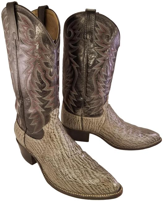 Item - Black and Gray Exotic Man Western Cowboy Boots/Booties Size US 9.5 Regular (M, B)