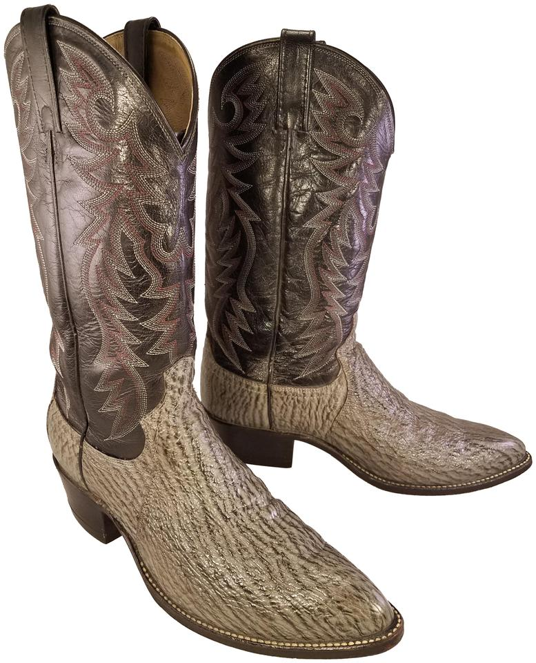 3c318776f31 Dan Post Boots Black and Gray Exotic Man Western Cowboy Boots/Booties Size  US 9.5 Regular (M, B)