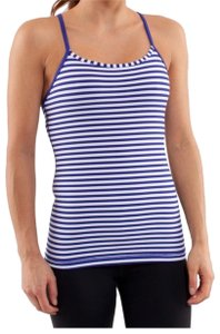 Lululemon Lululemon Power Y Tank Pigment Blue White Narrow Bold Stripe. Sz2