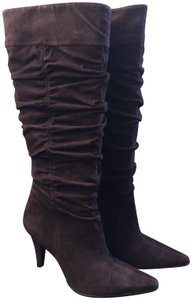 60eac678356 US 8. Kenneth Cole Tall Riding Suede Riding Dark Chocolate Boots