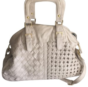 Urban Expressions Satchel in cream with gold hardware
