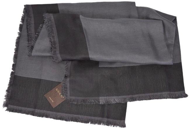 Item - Grey New Unisex 371461 Wool Silk Modal Colorblock 55 X 55 Scarf/Wrap