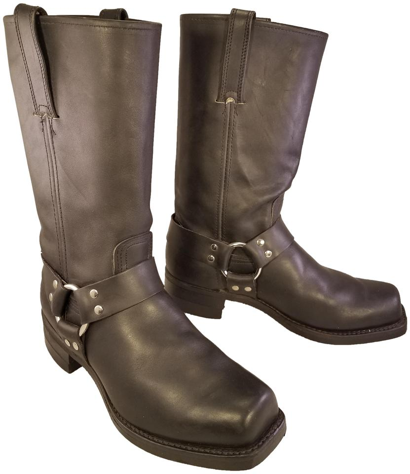 Frye Man Harness Motorcycle Riding Black Boots ...