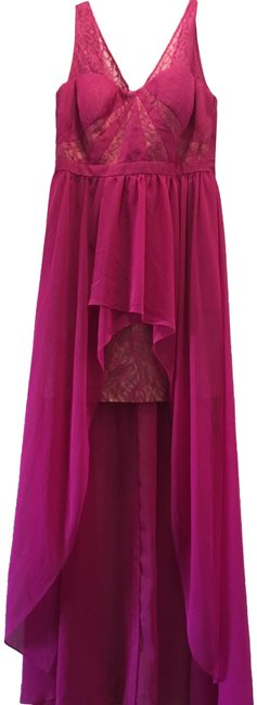 Item - Fuchsia Polyester Formal Bridesmaid/Mob Dress Size 10 (M)