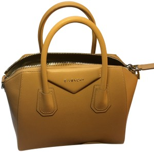 Givenchy Goatskin Leather Classic Leather Pebbled Non-scratch Soft Satchel in Tan