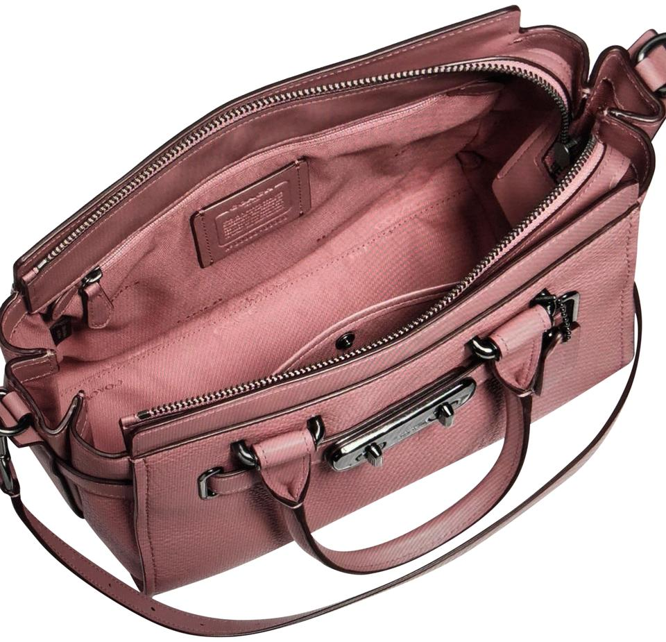 0706bf576b205 Coach Swagger 27 Style 87295 Dusty Rose Pebble Leather Shoulder Bag ...