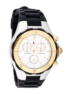 Michele MICHELE (MWW12F000057) TAHITIAN JELLY BEAN BLACK SILVER WATCH