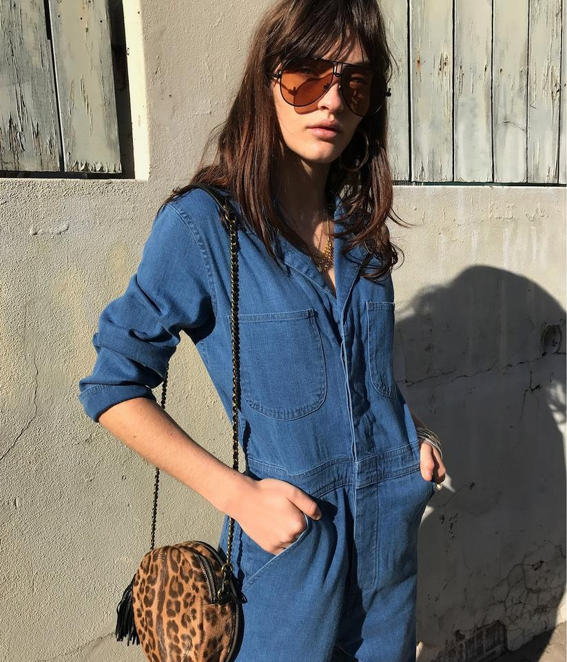 5dccfabde92 J Brand Blue Traveler Denim Coverall Heavenly Romper Jumpsuit - Tradesy