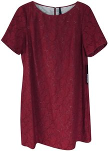 Marc New York Poinsettia Lace Fully Lined Party Dress