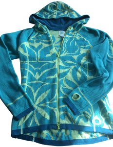 Title nine Tropical Green Island Hoodie Sporty Jacket