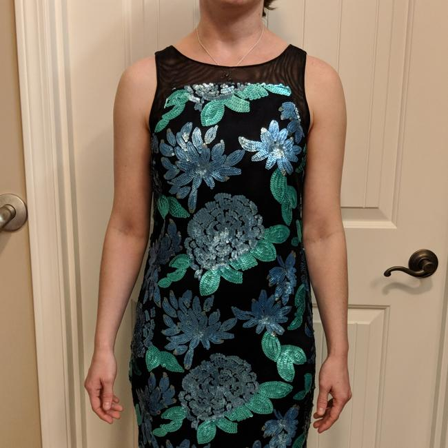 Item - Blue/Green Bl2358 Mid-length Night Out Dress Size 2 (XS)