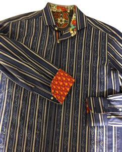 Robert Graham Button Down Shirt Blue stripe