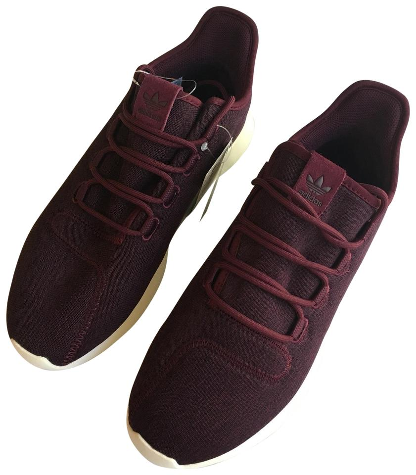 plus récent 04206 cbbf0 adidas Burgundy Bordeaux Women's Tubular Shadow Cushion Street Sneakers  Size US 9.5 Regular (M, B)