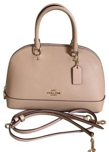 Coach Satchel in pinkish beige
