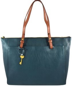 Fossil Tote in Blue Teal