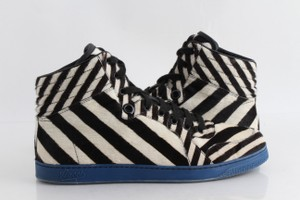 Gucci Multicolor Zebra Print Pony Hair High-top Sneakers Shoes