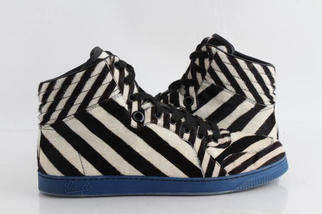Item - Multicolor Zebra Print Pony Hair High-top Sneakers Shoes