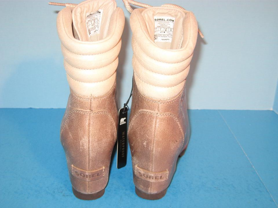 f2ac85d6739 Sorel Fawn Conquest Wedge Holiday Leather Ankle Boots Booties Size ...