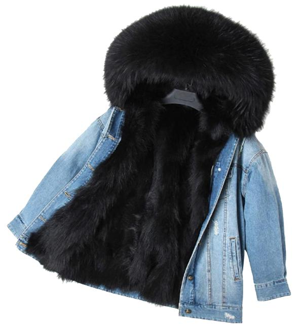 Preload https://img-static.tradesy.com/item/24414305/blue-with-real-fur-lining-jacket-size-8-m-0-1-650-650.jpg
