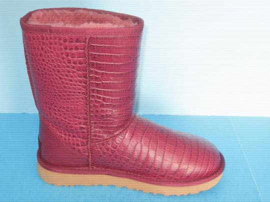 3325d93586c UGG Australia Red Classic Short Crocodile Leather Lonely Hearts ...