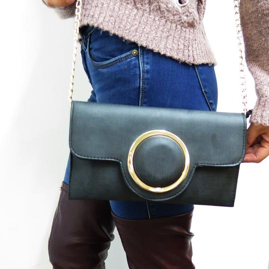 Other Cross Body Shoulder Black Clutch