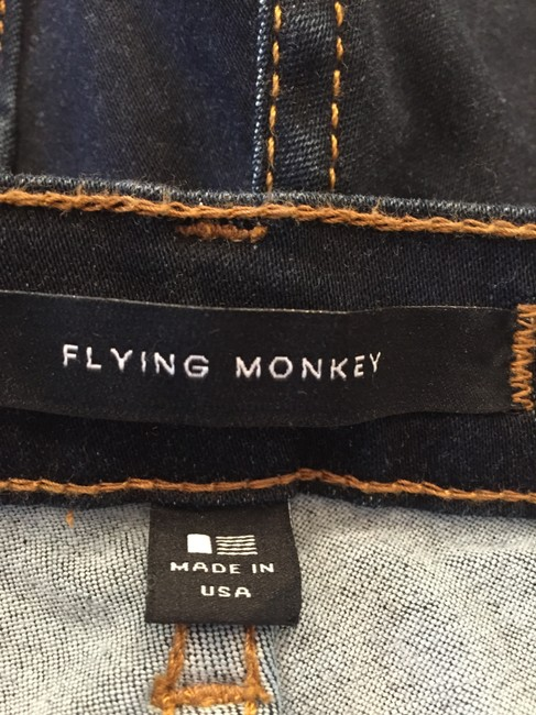 Flying Monkey Stretchy Denim Cotton Skinny Jeans-Dark Rinse