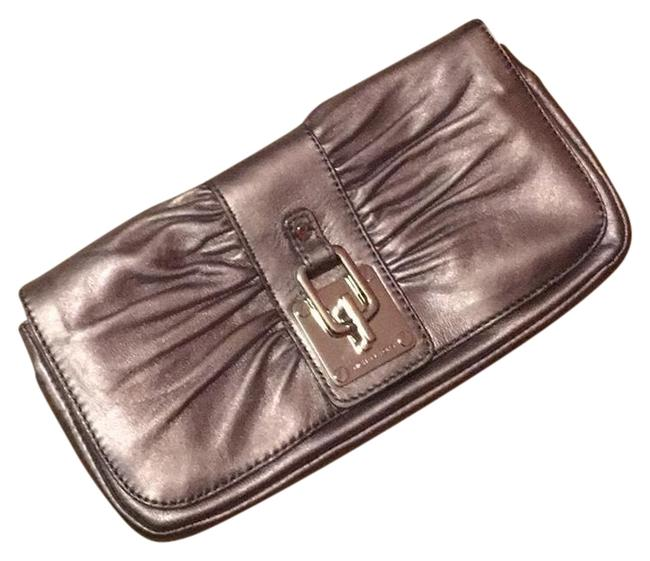 Michael Kors Silver Leather Clutch Michael Kors Silver Leather Clutch Image 1