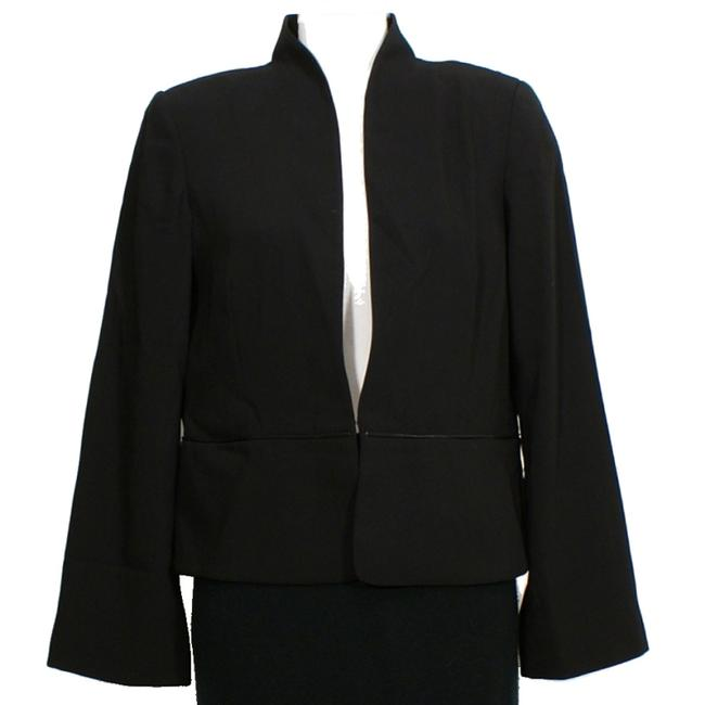 Preload https://img-static.tradesy.com/item/24414484/eileen-fisher-black-tropical-suiting-eco-poly-leather-trim-jacket-m-blazer-size-10-m-0-0-650-650.jpg