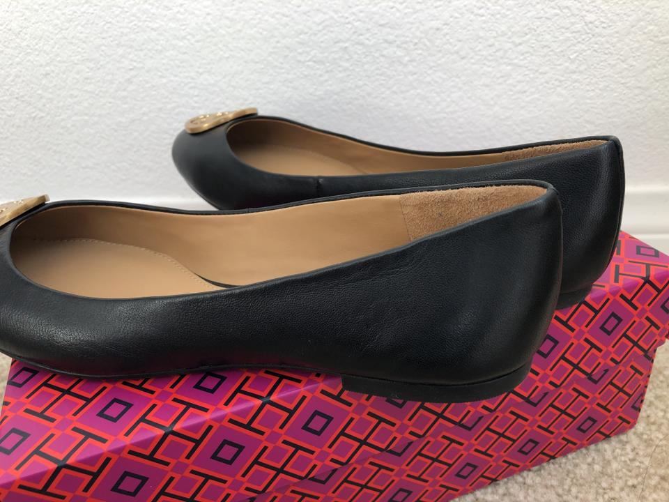 910c61410a73 Tory Burch Black Flash-sale Benton Ballet Nappa Leather Flats Size US 10  Regular (M