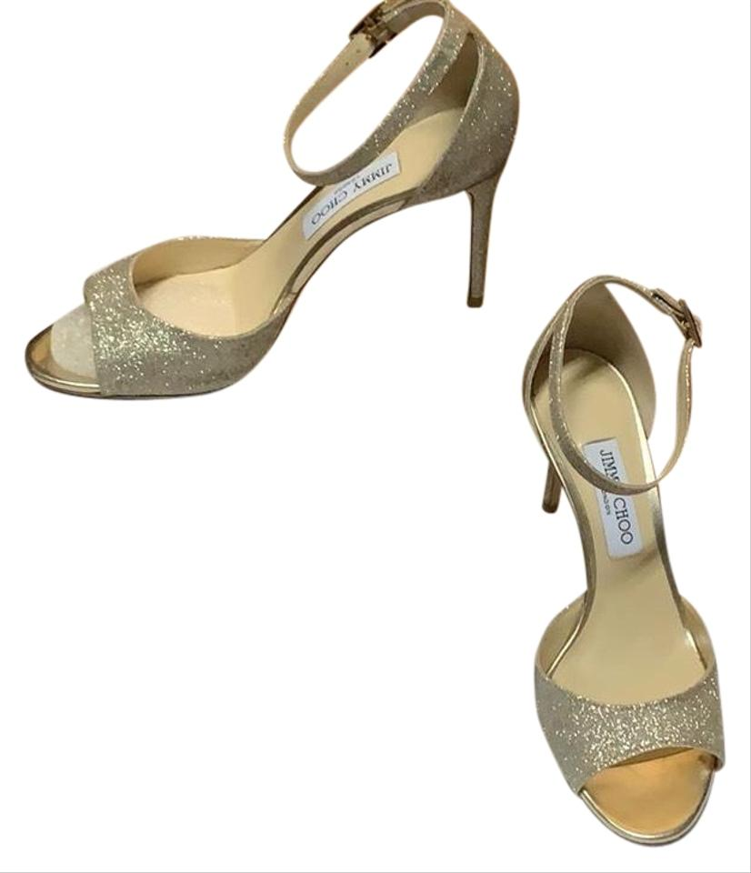 22e2165c59a Jimmy Choo Gold Annie Formal Shoes Size EU 39 (Approx. US 9) Regular ...