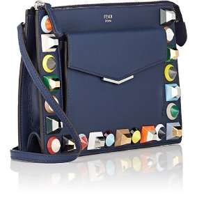 Fendi Womens Rainbow Collection Leather Cross Body Bag
