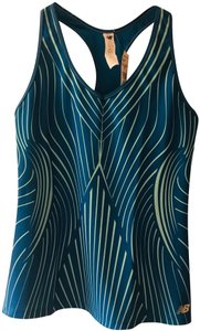 New Balance New Balance Get Back Racerback Top in Teal Blue