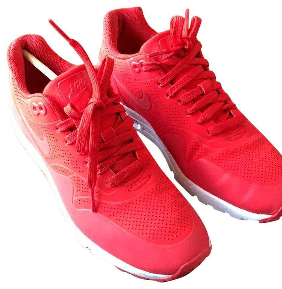 Nike Red Air Max 1 Ultra Moire Sneakers Size US 8.5 Regular (M, B)