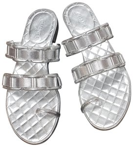 Chanel New Silver Sandals