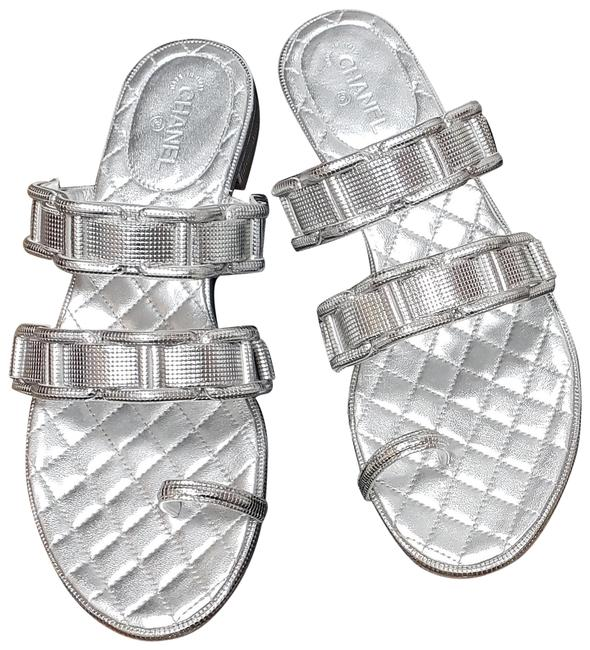 Item - Silver New Slides Cc Sandals Size EU 37 (Approx. US 7) Regular (M, B)