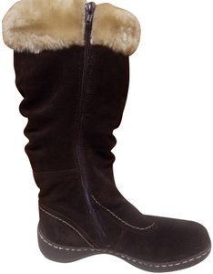 Bare Traps Leather Faux Fur Water-resistant Brown Boots
