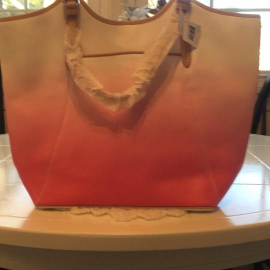 Coach Tote in Pink/White