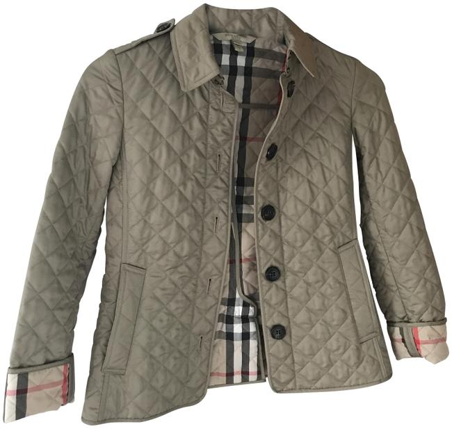 Item - Taupe Diamond Quilted Jacket Coat Size 0 (XS)