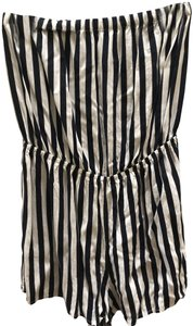 H&M short dress Navy Romper Strapless Striped Summer on Tradesy