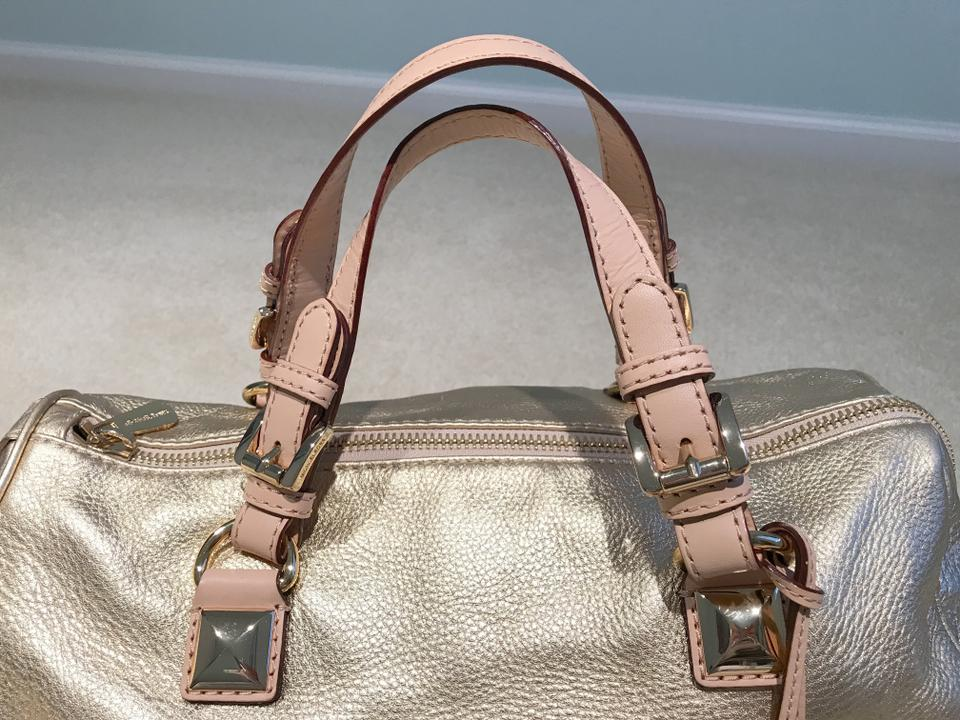 a9baaed17804 Michael Kors Grayson Gold-tone Large Dust Gold Leather Satchel - Tradesy