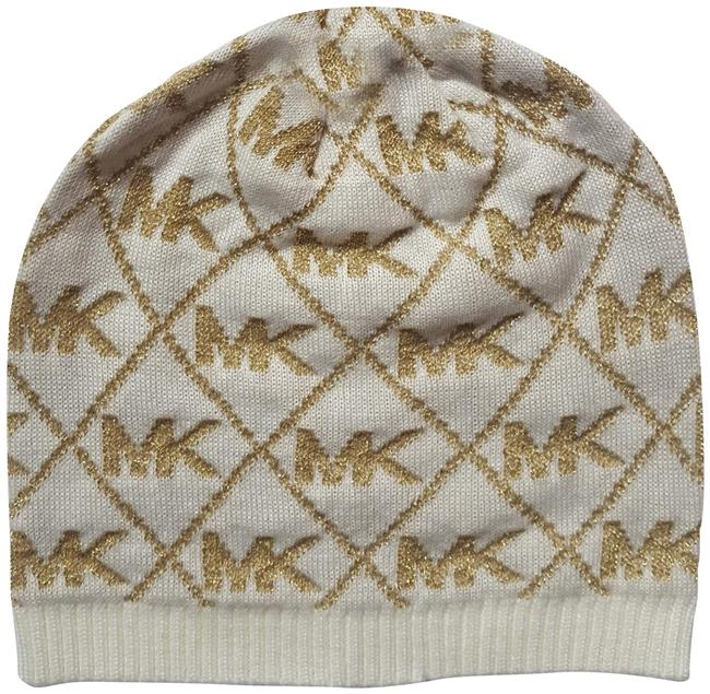 Item - White/Gold Beanie Knit Hat